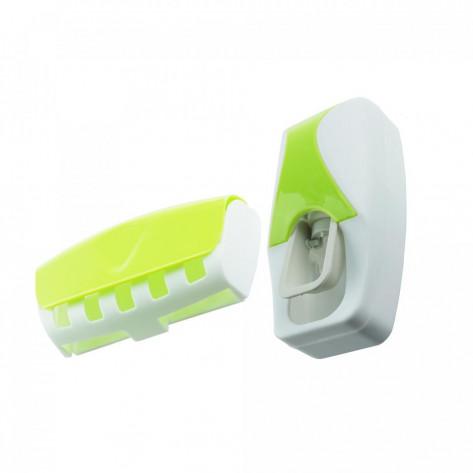 Дозатор для зубной пасты и держатель для щеток, салатовый