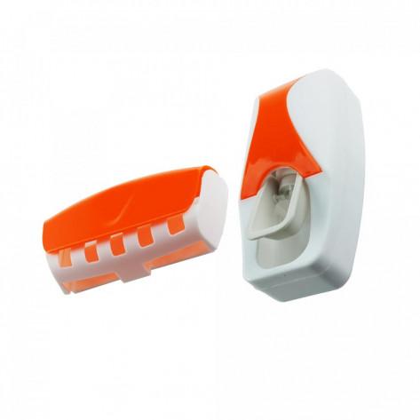 Дозатор для зубной пасты и держатель для щеток, оранжевый