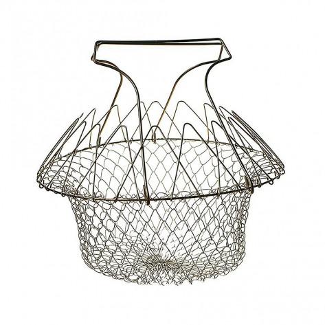 Складной дуршлаг - корзина Chef Basket из нержавеющей стали