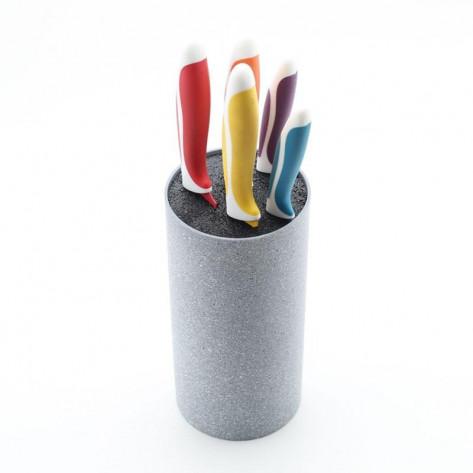 Универсальная подставка для ножей с наполнителем Universal Knife Holder, серый