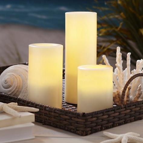 Набор из трех led-свечей с пультом, светодиодные LED свечи Luma Candles (3 шт.)