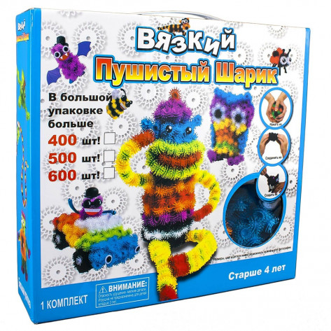 Развивающий детский конструктор липучка Bunchems 400 предметов (Банчемс)