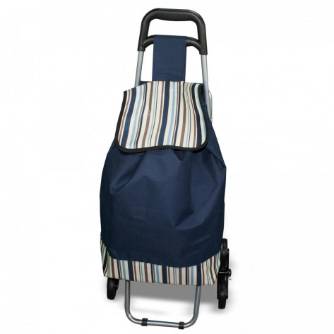 Cумка тележка хозяйственная на колесах складная со стулом