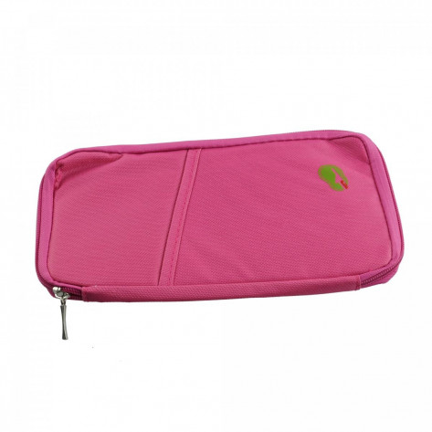 Дорожный органайзер для документов и карточек, розовый