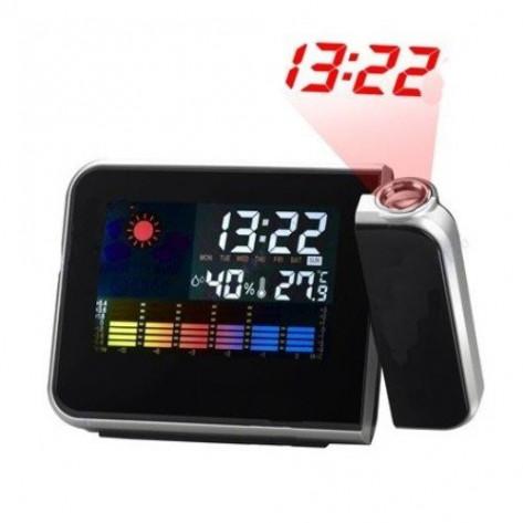 Часы будильник метеостанция с проектором домашняя
