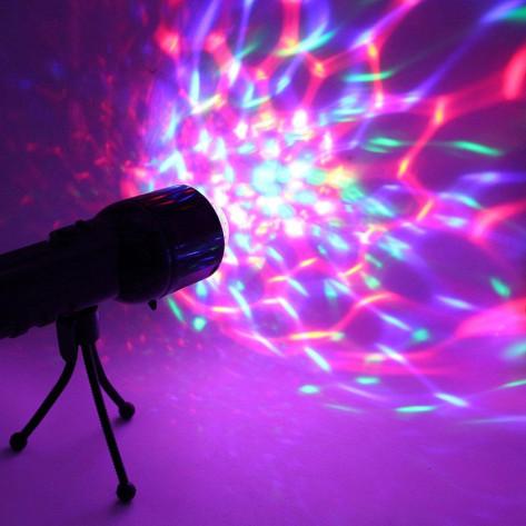 Фонарик проектор светодиодный со штативом