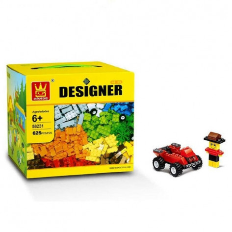 Развивающий детский конструктор аналог Lego 625 предметов
